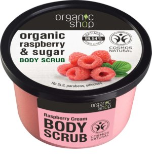 Organic Shop Body Scrub Ruspberry & Sugar απαλό Scrub σώματος