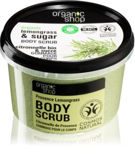 Organic Shop Organic Lemongrass & Sugar απαλό Scrub για το σώμα