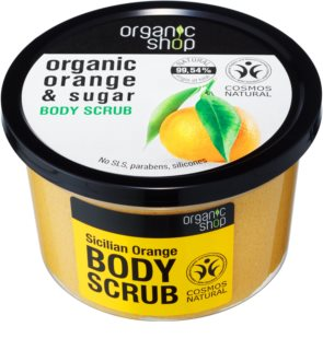 Organic Shop Organic Orange & Sugar esfoliante tonificante para corpo