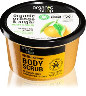 Organic Shop Organic Orange & Sugar exfoliant tonifiant pentru corp