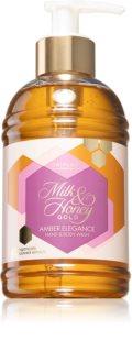 Oriflame Milk & Honey Gold Amber Elegance nežni gel za prhanje za roke in telo