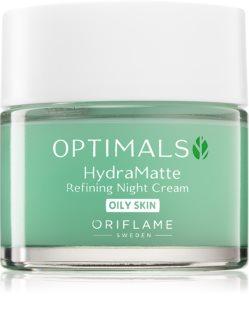 Oriflame Optimals хидратиращ нощен крем за мазна кожа