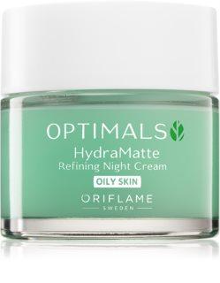 Oriflame Optimals crema de noche hidratante para pieles grasas