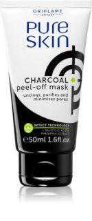 Oriflame Pure Skin máscara facial peel-off com carvão ativo