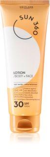Oriflame Sun 360 loción bronceadora para rostro y cuerpo SPF 30
