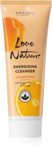 Oriflame Love Nature gel limpiador energizante  para cerrar los poros y matificar la piel