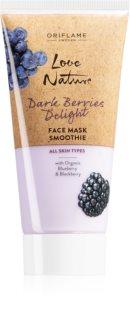Oriflame Love Nature Dark Berries Delight regenerační a hydratační maska na obličej