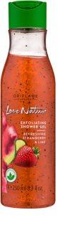 Oriflame Love Nature gel de ducha exfoliante