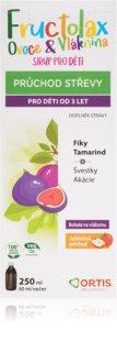 Ortis Fructolax Ovoce&Vláknina SIRUP doplněk stravy pro normální funkci střevního traktu