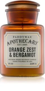 Paddywax Apothecary Orange Zest & Bergamot dišeča sveča