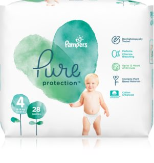 Pampers Pure Protection Size 4 pannolini