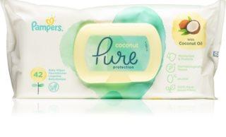 Pampers Pure Protection Coconut Hellävaraiset Vauvan Kosteuspyyhkeet Herkälle Iholle
