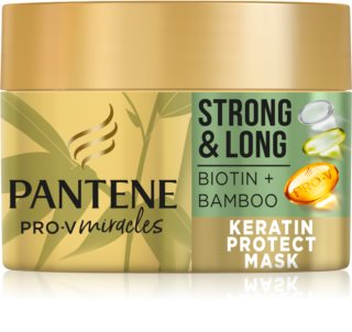 Pantene Strong & Long Biotin & Bamboo erneuernde Maske gegen Haarausfall