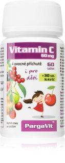 PargaVit Vitamin C 60 mg pro posílení imunity pro děti ve čtyřech ovocných příchutích