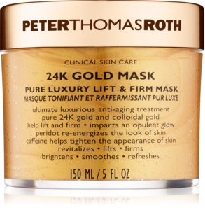 Peter Thomas Roth 24K Gold luxuosa máscara facial reafirmante com efeito lifting