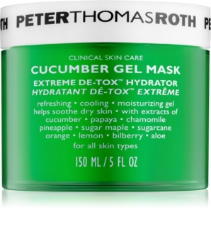 Peter Thomas Roth Cucumber De-Tox hydratační gelová maska na obličej a oční okolí