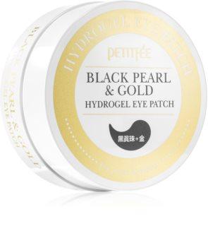 Petitfee Black Pearl & Gold feuchtigkeitsspendende Gel-Maske für den Augenbereich