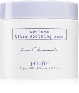 Petitfée Azulene cotton pads To Soothe And Strengthen Sensitive Skin