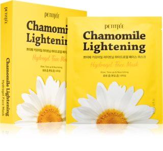 Petitfée Chamomile Lightening Mascarilla aclaradora para iluminación e hidratación