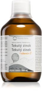 Pharma Activ Koloidní zinek vitamín C doplněk stravy pro podporu imunity, zdravou pleť, vlasy i pohybovou soustavu