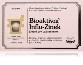 Pharma Nord Bioaktivní Influ-Zinek doplněk stravy  při chřipce a nachlazení