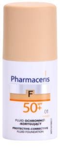 Pharmaceris F-Fluid Foundation maquillaje protector cubre imperfecciones SPF 50+