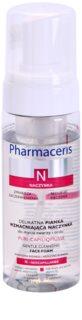 Pharmaceris N-Neocapillaries Puri-Capiliqmousse espuma desmaquilhante e de limpeza para pequenos derrames no rosto