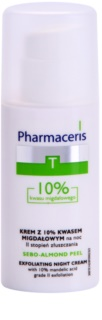 Pharmaceris T-Zone Oily Skin Sebo-Almond Peel ночной регулирующий и очищающий крем для обновления верхнего слоя кожи