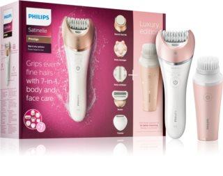 Philips Satinelle Prestige BRE586/00 epilador com escova de limpeza para rosto