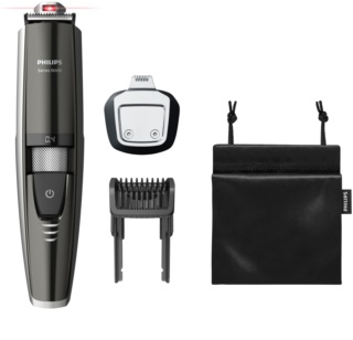 Philips Beard Trimmer Series 9000 BT9297/15 regolabarba waterproof con guida laser