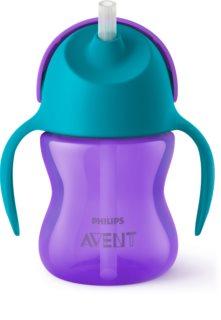 Philips Avent Cup with Straw чашка з гнучкою трубочкою 9m+ Girl