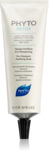 Phyto Detox máscara de limpeza antes de lavagem para cabelo exposto à poluição