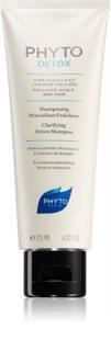 Phyto Detox champô de limpeza para cabelo exposto à poluição