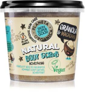 Planeta Organica Granola & Macadamia esfoliante corporal nutritivo