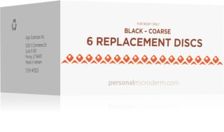 PMD Beauty Replacement Discs Black Coarse Disques de rechange pour aspirateur à points noirs