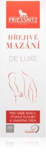 Priessnitz Hřejivé mazání DeLuxe hřejivý krém pro masáž namožených svalů