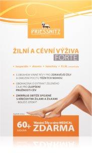 Priessnitz Žilní a cévní výživa FORTE EKO balení sada potravinového doplňku a mazání proti křečovým žilám, otokům a pocitu těžkých nohou