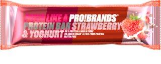 PRO!BRANDS Protein Bar jahoda/jogurt proteinová tyčinka s jahodovou příchutí