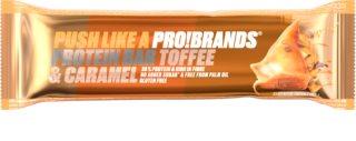 PRO!BRANDS Protein Bar toffee/karamel proteinová tyčinka s příchutí karamelu