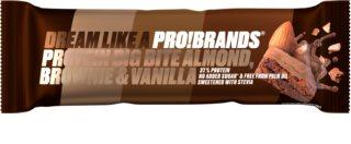 PRO!BRANDS Protein Big Bite mandlové brownie s vanilkou proteinová tyčinka s čokoládou
