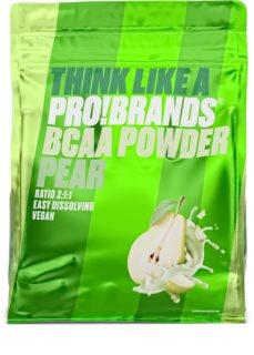 PRO!BRANDS BCAA Powder Hruška prášek na přípravu nápoje s aminokyselinami