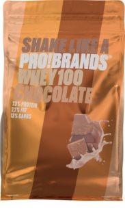 PRO!BRANDS 100% Whey Protein  čokoláda syrovátkový protein v prášku