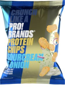 PRO!BRANDS Chips proteinové chipsy  onion and cream