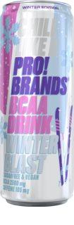 PRO!BRANDS BCAA Drink winter blast - jahoda/malina hotový nápoj s aminokyselinami