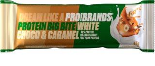 PRO!BRANDS Protein Big Bite bílá čokoláda/karamel proteinová tyčinka
