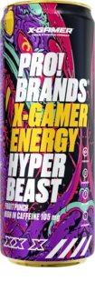 PRO!BRANDS X-GAMER Energy Hyper Beast energy drink  fruit punch