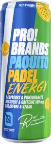 PRO!BRANDS Drink Padel Energy malina/granátové jablko energy drink