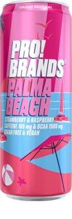 PRO!BRANDS BCAA Drink palma beach - jahoda/malina hotový nápoj s aminokyselinami