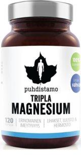 Puhdistamo Triple Magnesium doplněk stravy  pro podporu činnosti nervové soustavy