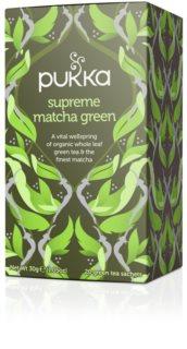 PUKKA BIO supreme matcha green Ájurvédský čaj pro povzbuzení a novou energii
